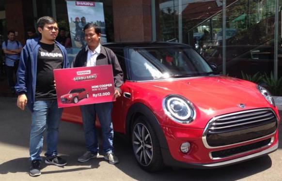 3 Fakta Pemenang Mobil Mini Cooper Seharga 12 Ribu Rupiah