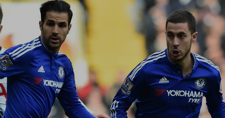 fabregas and hazard in Chelsea jersey